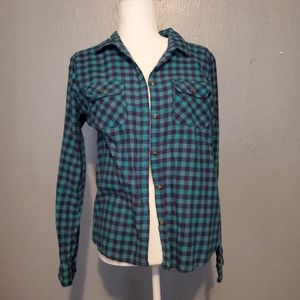 American Eagle Outfitters flannel style medium top